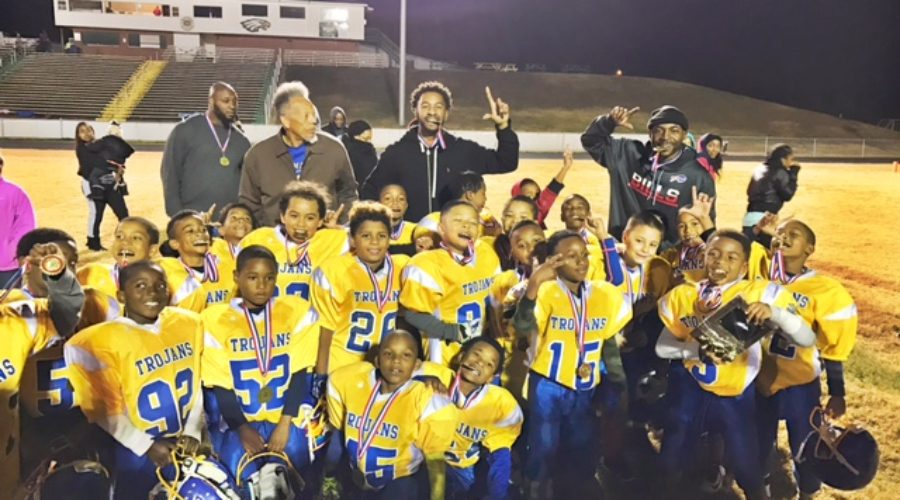 Green Level Trojans Pee Wee Football Team Wins 2016 County Championship