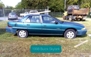 (1) 1998 Buick Skylark VIN: 1G4NJ52MOWC416150 V6 Engine, Runs but needs fuel pump